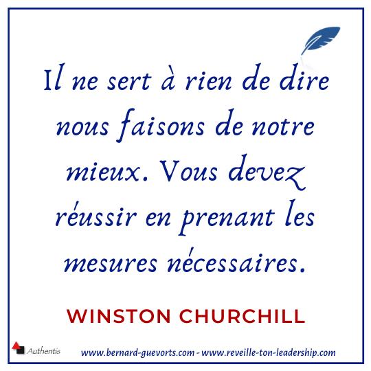 Citation de Winston Churchill sur les résultats
