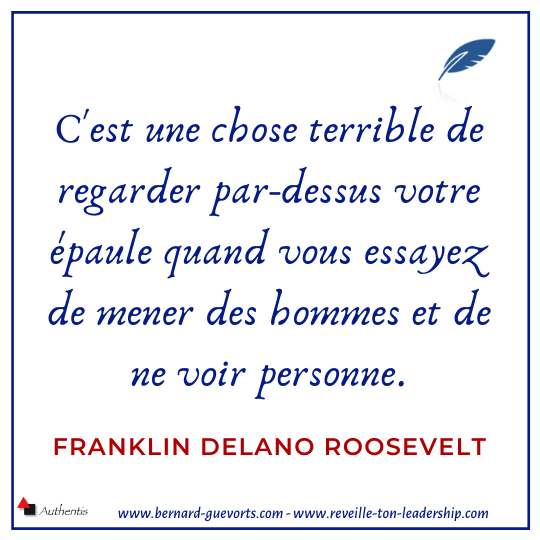 Citation sur le leadership de Roosevelt