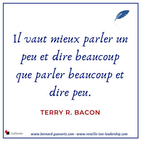 Citation de Terry bacon sur la prise de parole
