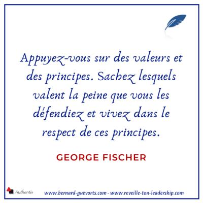 Citation sur les valeurs et les principes de G Fischer