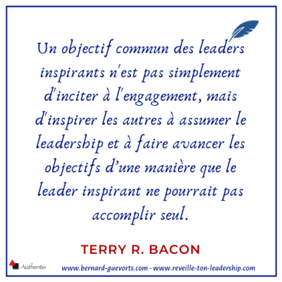 Citation de Terry Bacon sur le leadership inspirateur