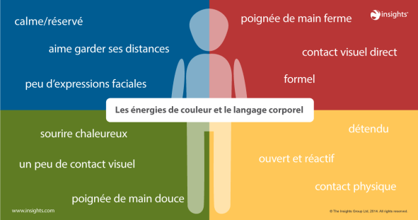 Le non verbal des 4 couleurs Insights Discovery