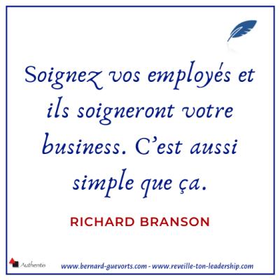 Citation de Richard Branson sur le fait de soigner les employés