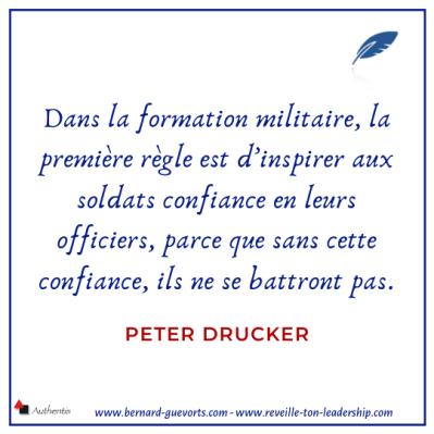Citation sur la confiance de P Drucker