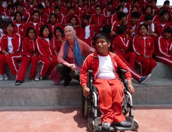 Foto: Archivo FyA . La etóloga Jane Goodall . Jicamarca-Perú 2014