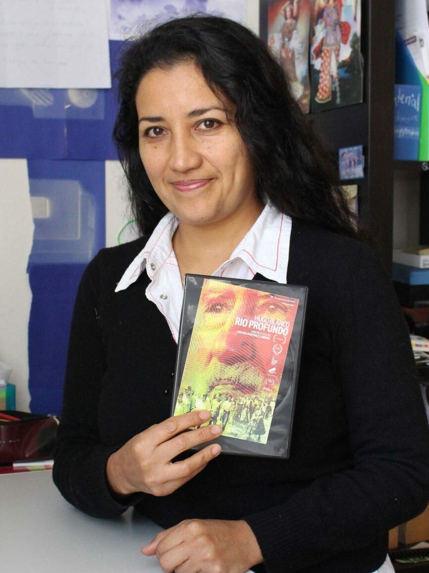 Malena Martínez Cabrera. Directora de Hugo Blanco, Rio profundo. Foto: Marcela Torres