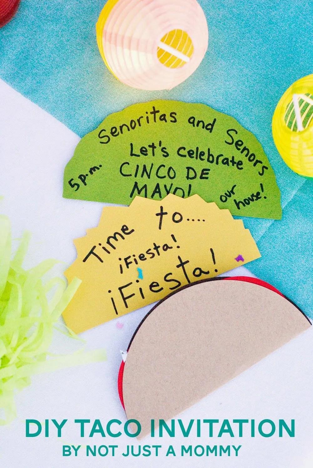 The Party Hop: Summer Fiesta DIY Taco Invitation/Balloon Party Bar ...