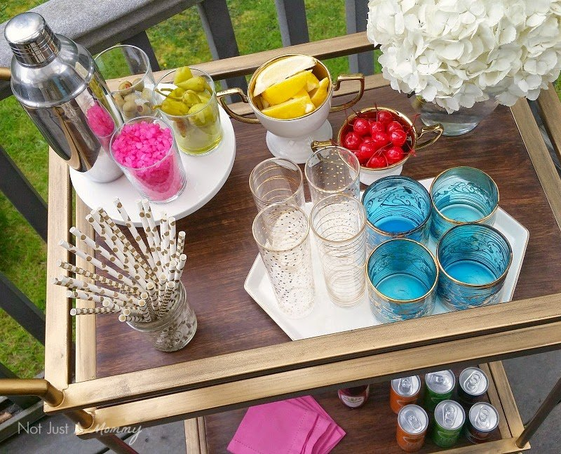 Tuesday Tip A Party On Wheels Bar Cart Essentials Revel And Glitter