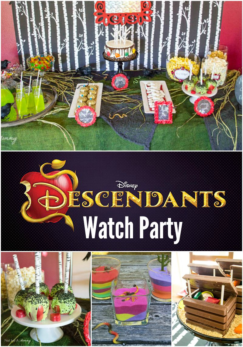 Real Party Disney S Descendants Watch Party Revel And