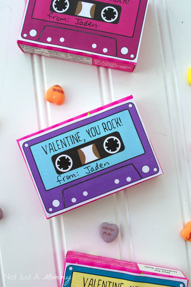 candy box cassette tape valentines revel and glitter. Black Bedroom Furniture Sets. Home Design Ideas