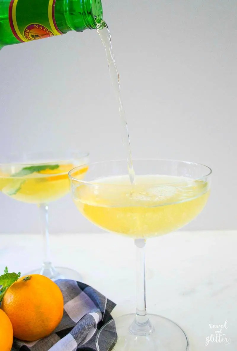 Ginger Tangerine Lemonade for Thanksgiving - Revel and Glitter
