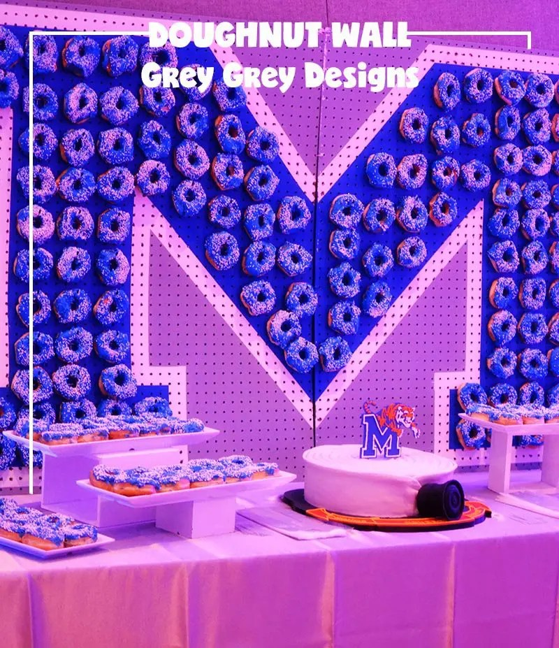 National Doughnut Day Party Blog Hop; doughnut wall