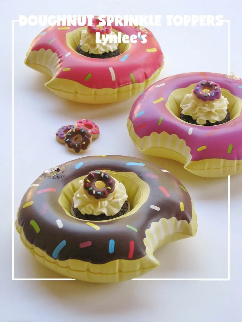 National Doughnut Day Party Blog Hop; sprinkle toppers for doughnut cupcakes