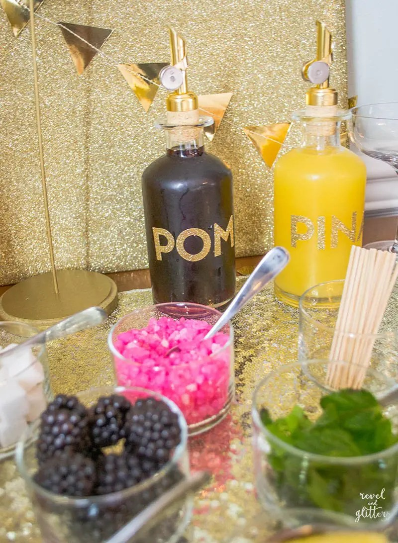 how to host a bridal shower mimosa bar juices