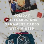 Holiday postcards and ornament cards with Minted