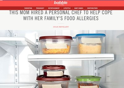 Babble.com: Mom hires chef to deal with allergies