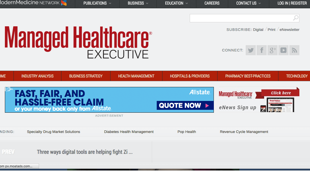 Dialog Direct: Article in Managed Healthcare Executive