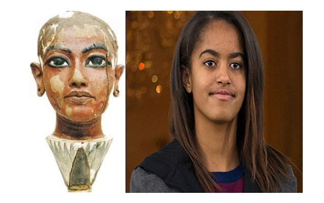 Ancient Egyptian Doppelganger of Malia Obama