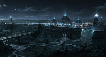 The Pyramids were used to transform sound waves from the Earth's core and transform them into sets of high frequency burst to power the Kingdom.