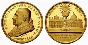 Vatcian coin - Lateran Treaty 1929