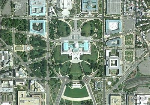 The layout of the U.S. capital clearly has a Satanic/Masonic owl