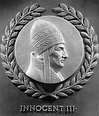Pope Innocent III delcared that he was god