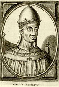 Pope Vigilus fulfills Daniel prophecy