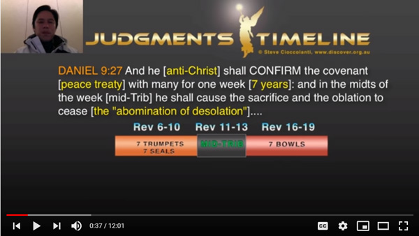 Steve Cioccolanti says that the antichrist has not confirmed the peace agreement of the 70th week of Daniel 9.