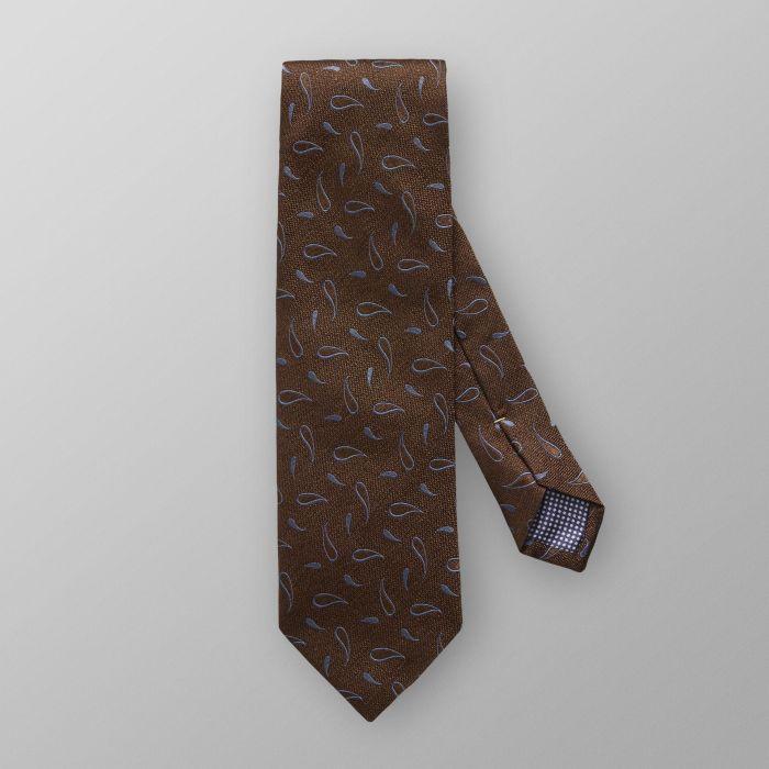 cravate soie marron