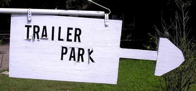 Trailer Park Sign