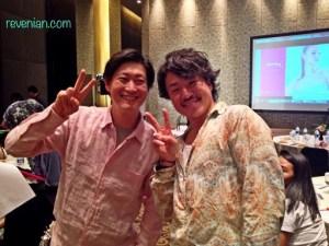Mr. Yamano Mitsuo and Mr. Yazawa Shoichi happy selfie