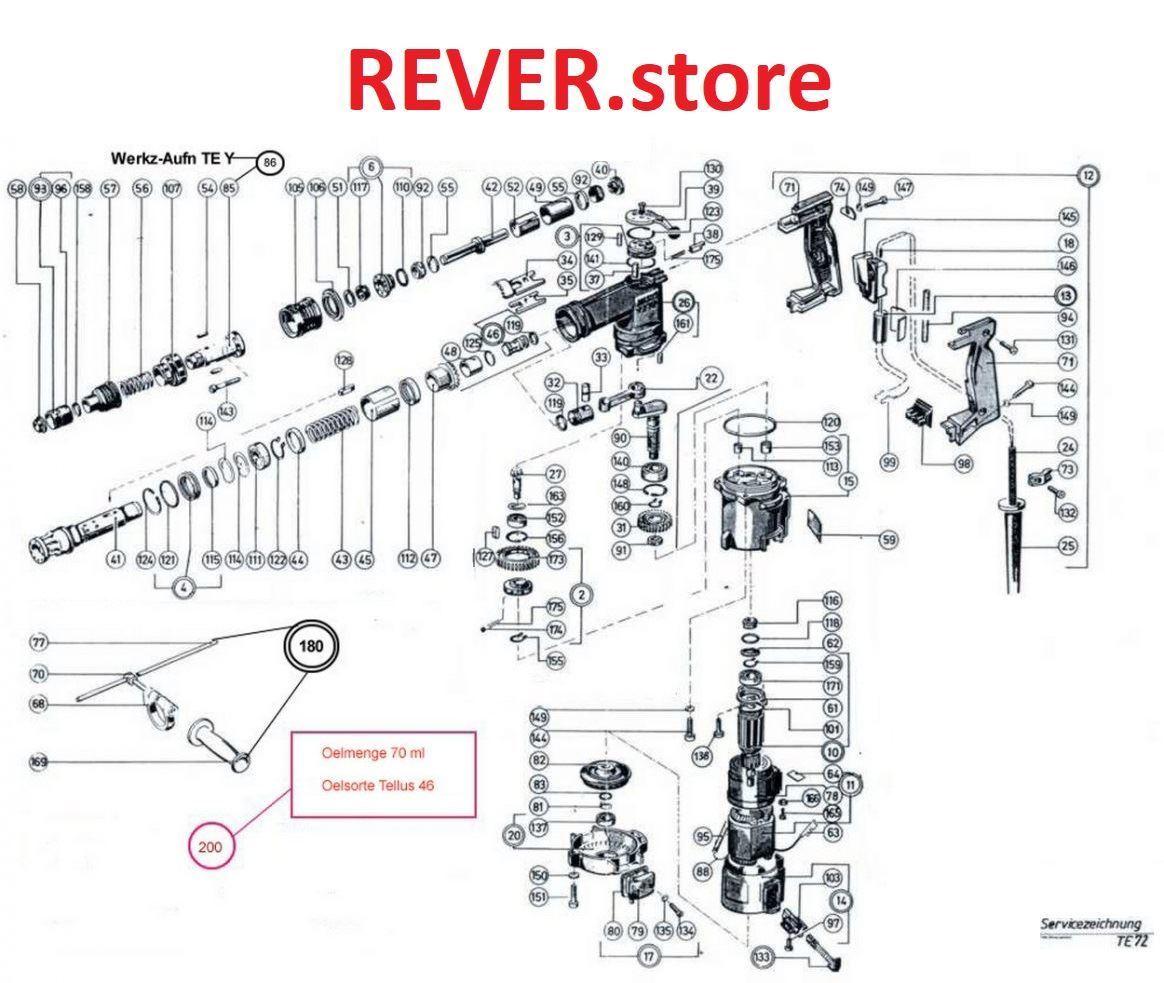 Hilti Hammer Drill Parts Diagram Te 6 S