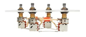 Custom New Gibson Les Paul Jimmy Page Wiring Harness Bourns 500K Long Shaft Pots | Reverb