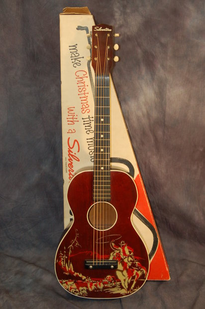 1959 Silvertone Sears Roebuck Wish Book Cowboy Guitar Original Christmas Box Reverb