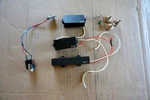 EMG PJ Active Bass Pickups P Bass W Wiring LJ Guitar Set