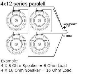 EarCandy 4x10 4x12 guitar speaker cab Wiring Harness 8