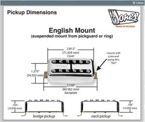 TV Jones Classic Pickup Set  English Mount Chrome | Reverb