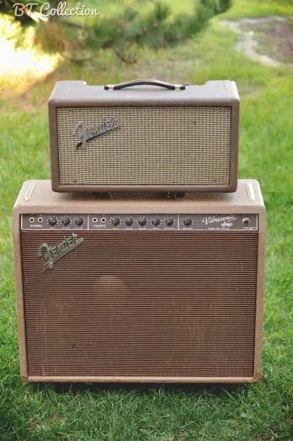 Fender Vibrasonic Amp Reverb Tank Brown Tolex
