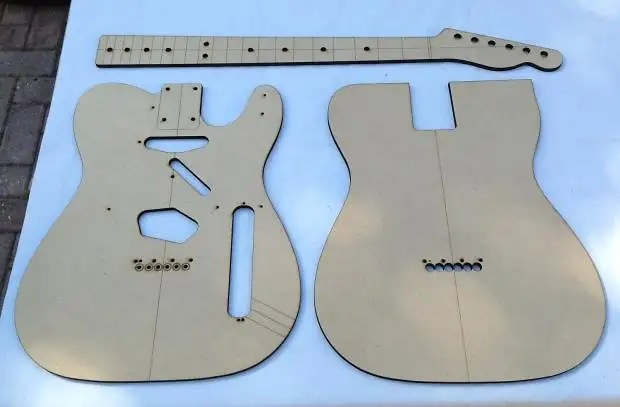 Guitar Neck Profile Template