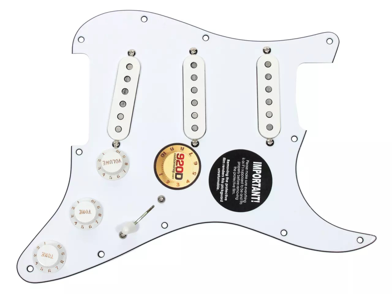 Dimarzio Area 58 67 61 Strat Loaded Pickguard Wh Wh