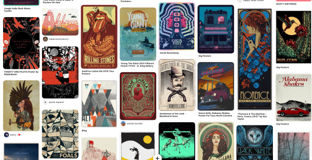 Gig Posters on Pinterest