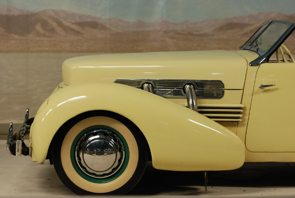 Inside the Simeone Foundation Automotive Museum.