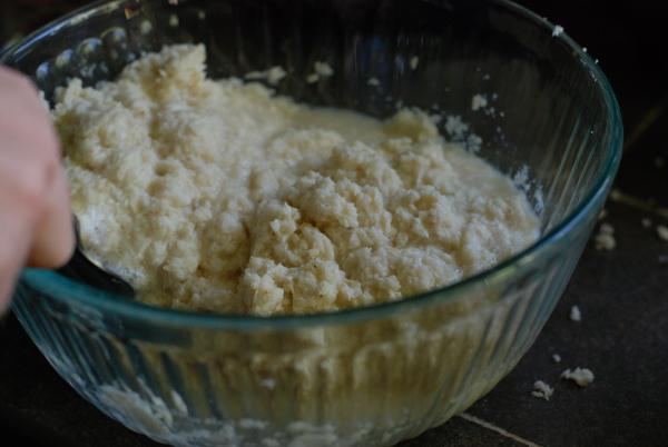 Shredded horseradish with vinegar and salt
