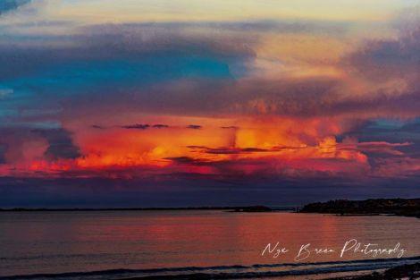 Revere ocean sunset