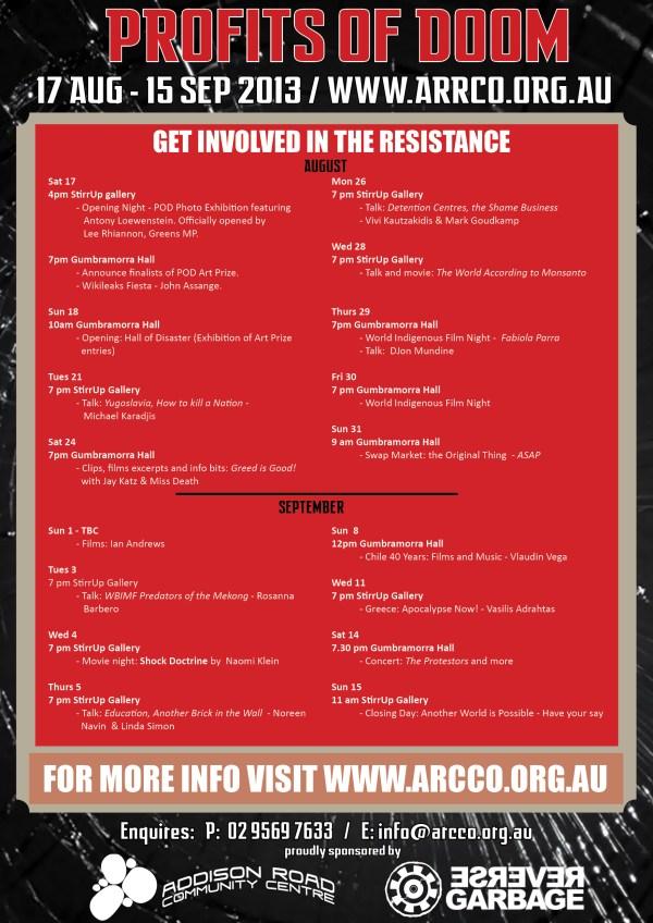 Profits of Doom A3 Poster Teaser V52