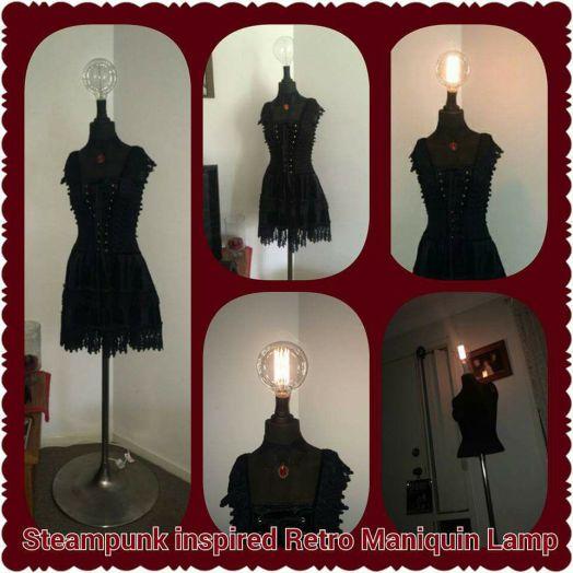 Steampunk Bust Lamp by B Perri
