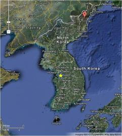 Nuclear testing site, in North Korea