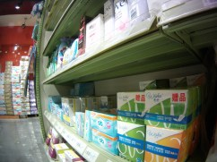 They do exist, easily. Tampons are everywhere in Shanghai.