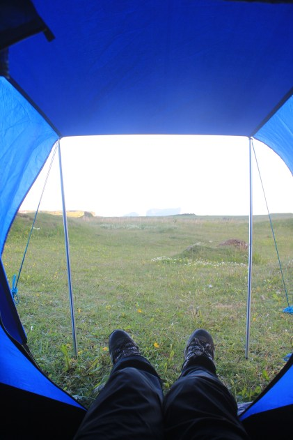 The view from the tent