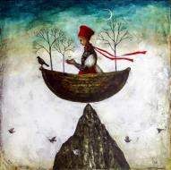 new moon in a boat! keeping the faith Maki Horanai